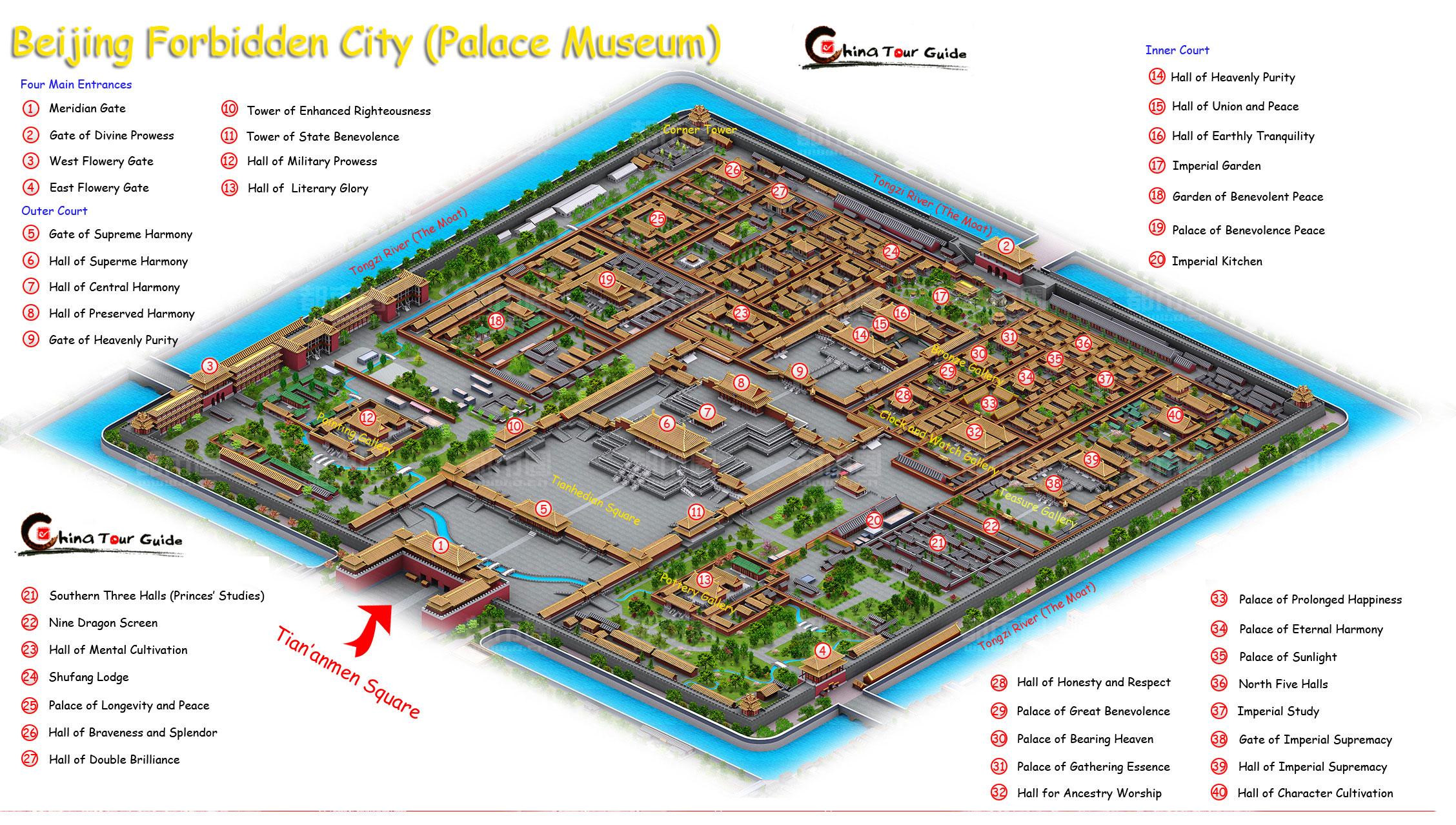 Карта запретного города